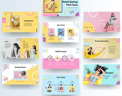 Fashion Retail Startup Pitch Deck Presentation