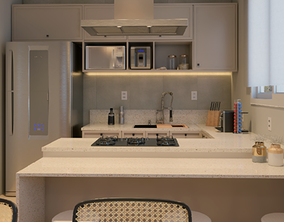 Living room and integrated kitchen - Travelers