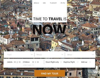 Landing Page for Travel Planner Website