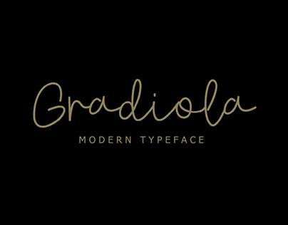 GRADIOLA - FREE MODERN SCRIPT FONT
