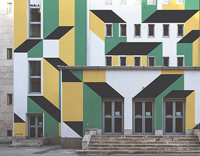 Erkel Theatre - Graphic solution for the facade