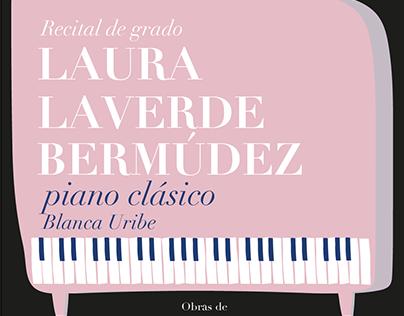 Afiche recital piano