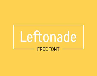 Free Font LEFTONADE