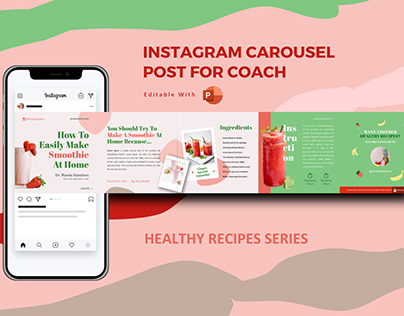 Recipe tips instagram carousel design