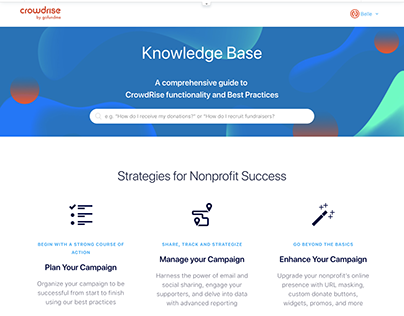 CrowdRise Knowledge Base