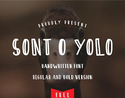 Sont O Yolo - Free Font - Handwritten Font