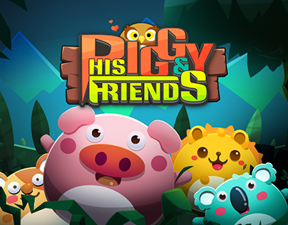 Pigs and friends,Game Artwork