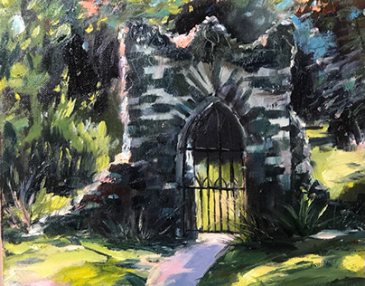 Old Gates in Kilmacurragh Botanic Gardens