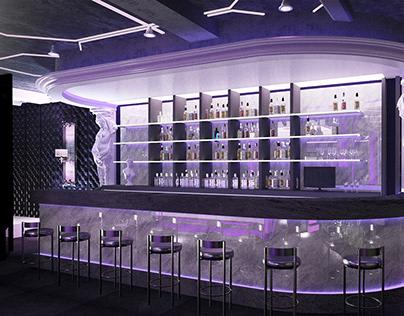 Interiors of a strip club Интерьеры стриптиз-клуба