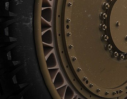 Armored Airless Tire