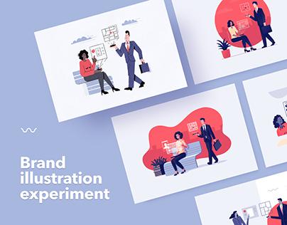 6 Art Styles 1 Topic - Brand Illustration Experiment