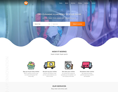 Wash It Laundry Service Landing Page (Web)