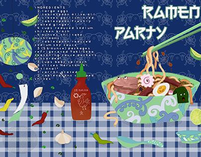 ILLUSTRATED RAMEN PARTY RECIPE