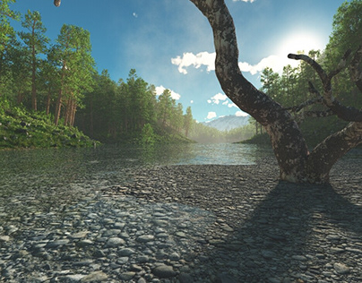 3D Environments - Scene River on the Way