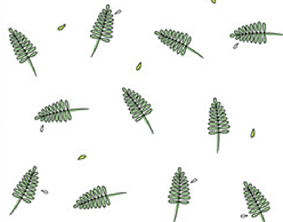 Leafy pattern for clothes