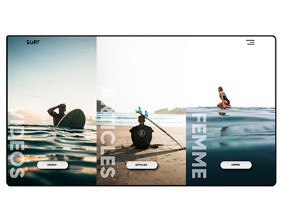 "Landing page - "" Surf Session """