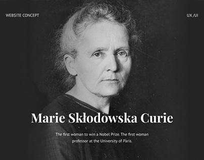 Marie Curie webconcept