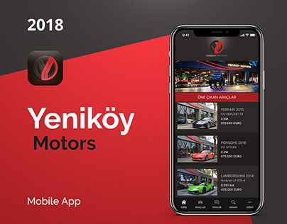Yeniköy Motors Mobile App UI UX