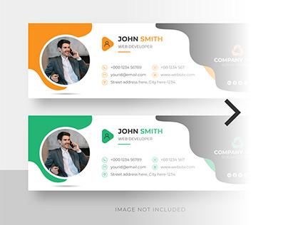 Email signature and personal facebook cover template