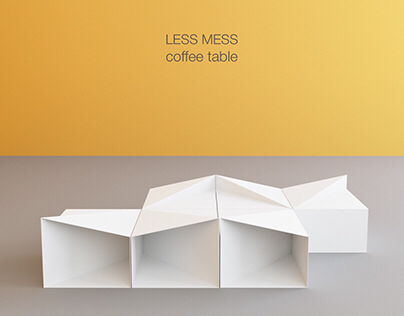 LESS MESS coffee table