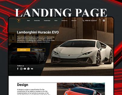 Landing page: Lamborghini Huracán EVO