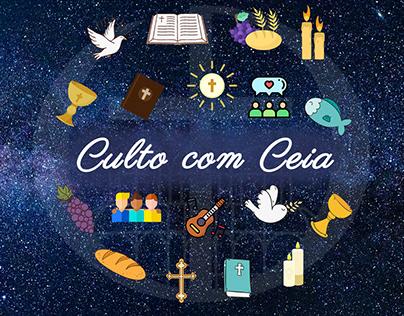 Artes para igrejas - Divulgação do culto com ceia