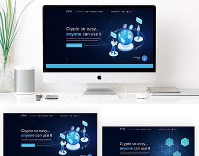 Fio home page design