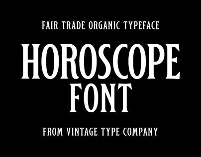 Horoscope Display Font 2019