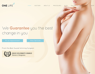 OneLife Medical | Plastic and Cosmetic Surgery Theme