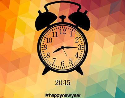 Happy New Year Illustration   2015