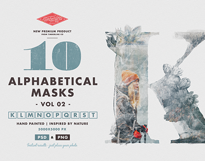 10 Alphabetical Masks Vol 02
