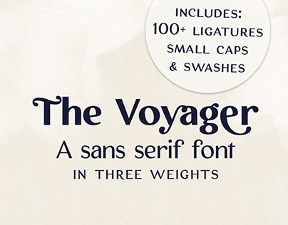 The Voyager display font