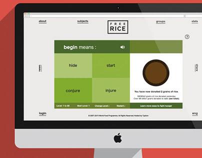 Free Rice UI/UX Redesign