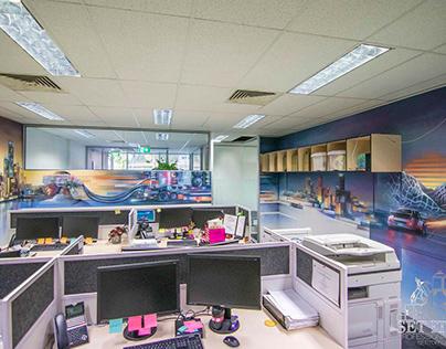"Office Interior Mural - ""Flux"""
