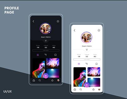 UI/UX Design-Profile Page