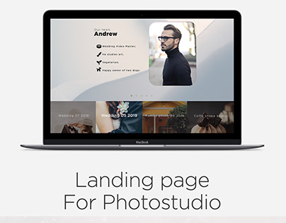 Landing page for Photostudio