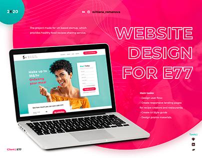 Website design for E77