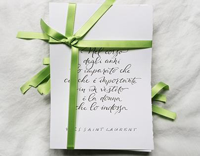 Handwritten poems - wedding