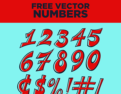 Free Vector Number Set