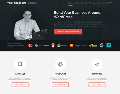 Personal Website (WordPress Theme)