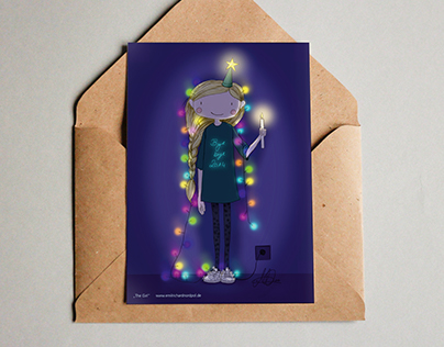 """The Girl"" – christmas card 2014"