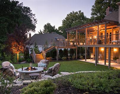 Contemporary Deck and Arbor