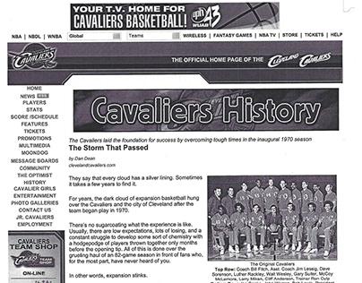 Cleveland Cavaliers website