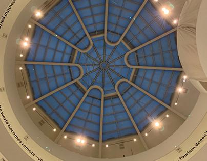 Guggenheim ceiling text