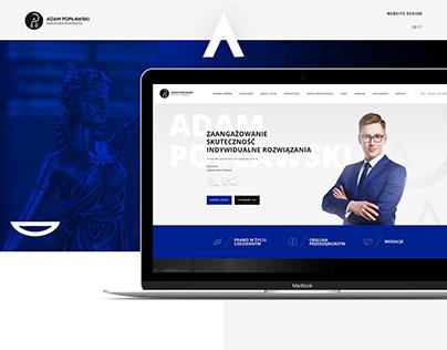 Adam Popławski - Kancelaria adwokacka - website design