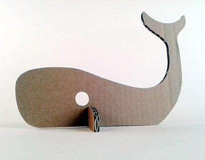 Kartonowe zwierzaki – Wieloryb/ Cardboard toys - Whale
