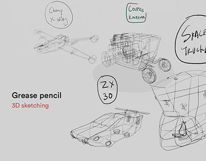 Grease pencil | 3D sketching