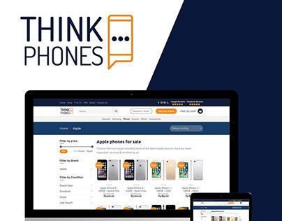 Think Phones (Wordpress Development + Logo Redesign)