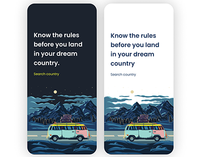 Know the country rules App concept