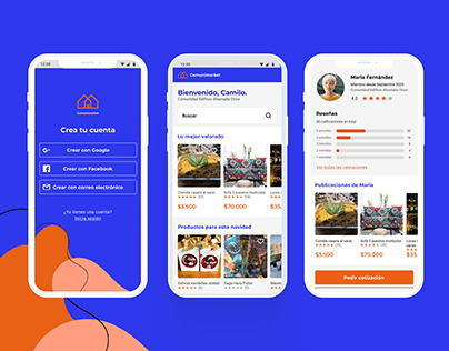 UX Comunimarket app